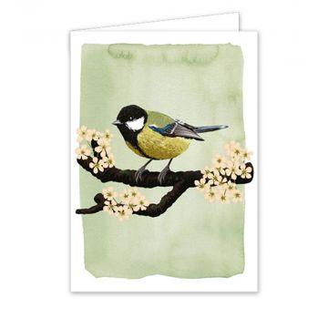 Carte de vœux mésange charbonnière - Myrte