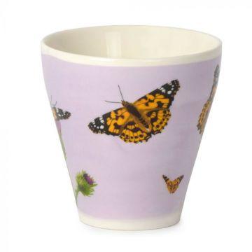 Tasse décorée avec le papillon Belle-Dame
