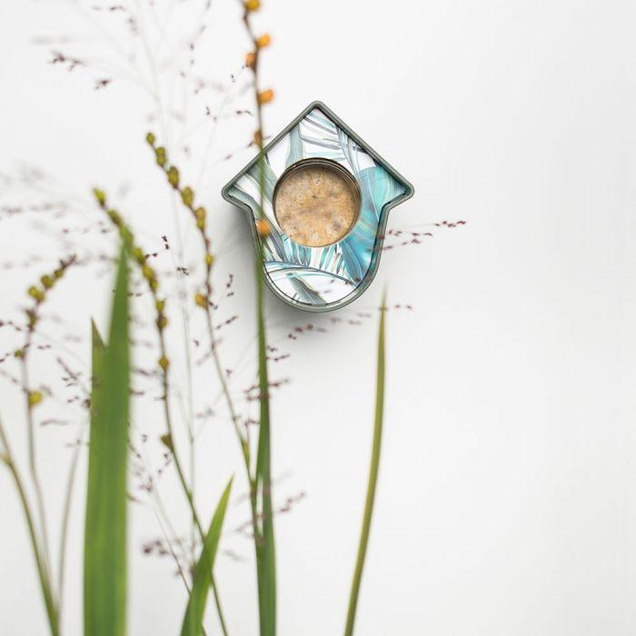 SingingFriend mangeoire Evie vert – motif feuille