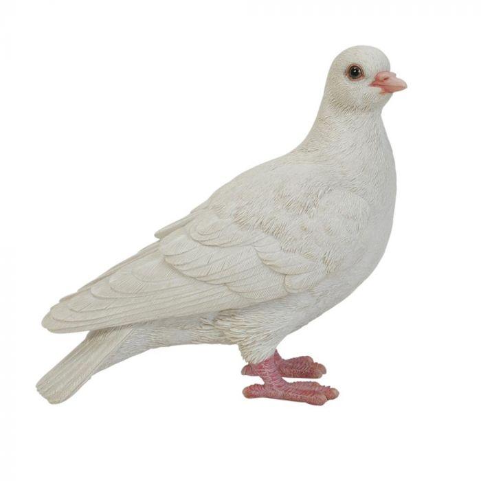 Statuette Pigeon blanc