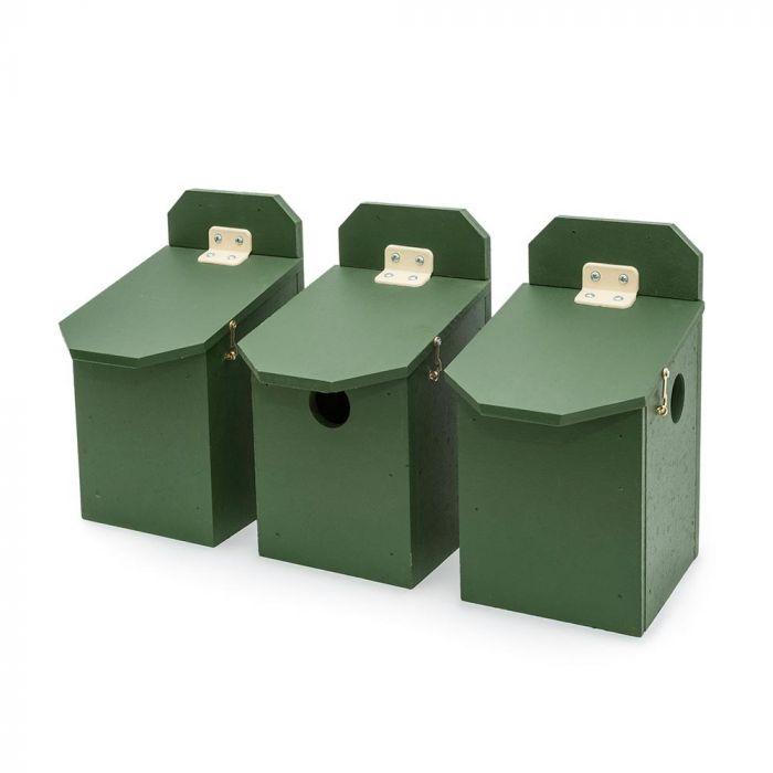 Nichoirs en éco-plaque pour moineaux domestiques