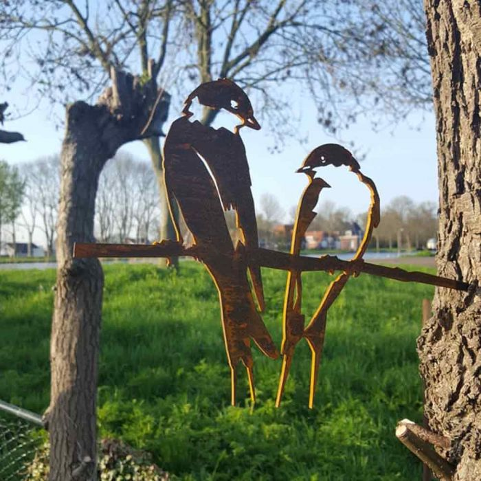 Oiseau en métal hirondelle