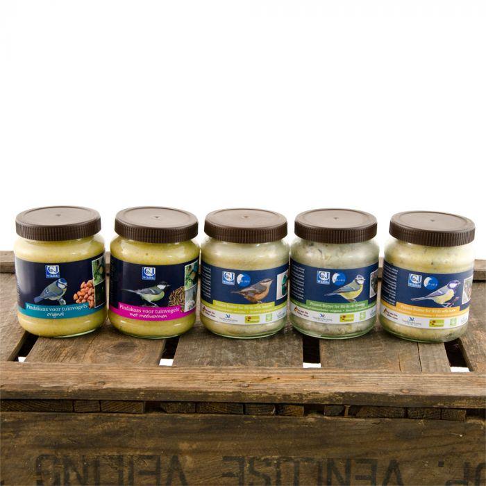 Beurre de cacahuètes pour oiseaux de jardin - avec fruits à coques