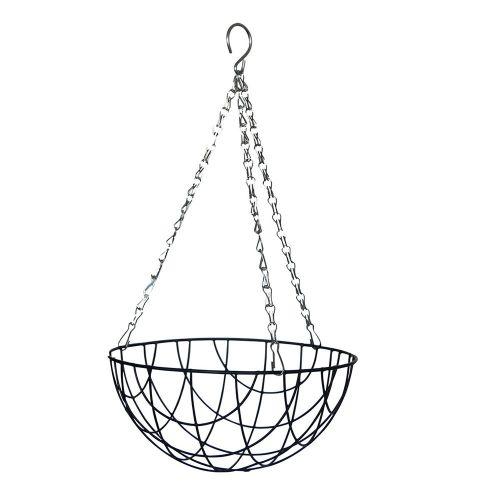 Jardinière métal & fibres de coco Ø 30cm