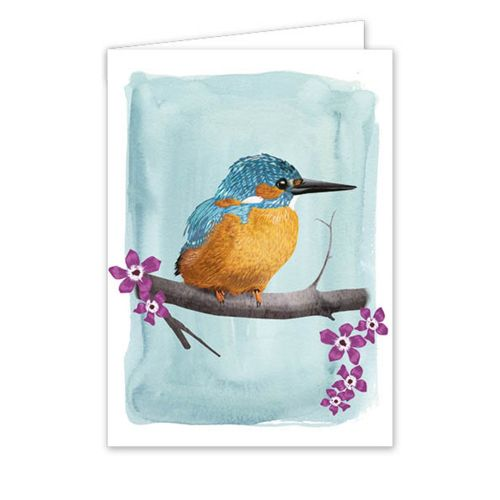 Carte de vœux martin-pêcheur - Myrte