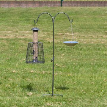 Feeder Pole Double - Grey