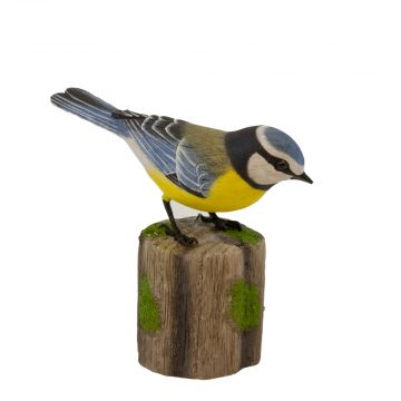 Blue Tit Wood Carving