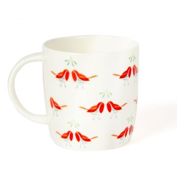 "Tasse Roy Kirkham ""Duo de rouge-gorge"""