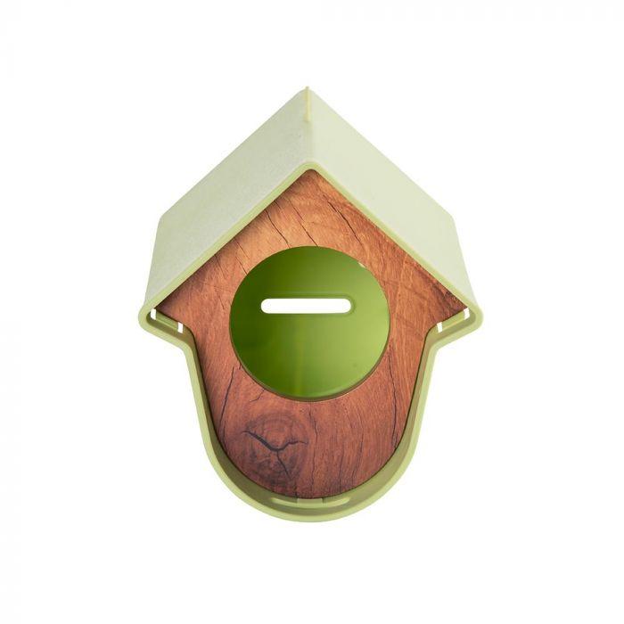 SingingFriend mangeoire Evie vert – motif bois