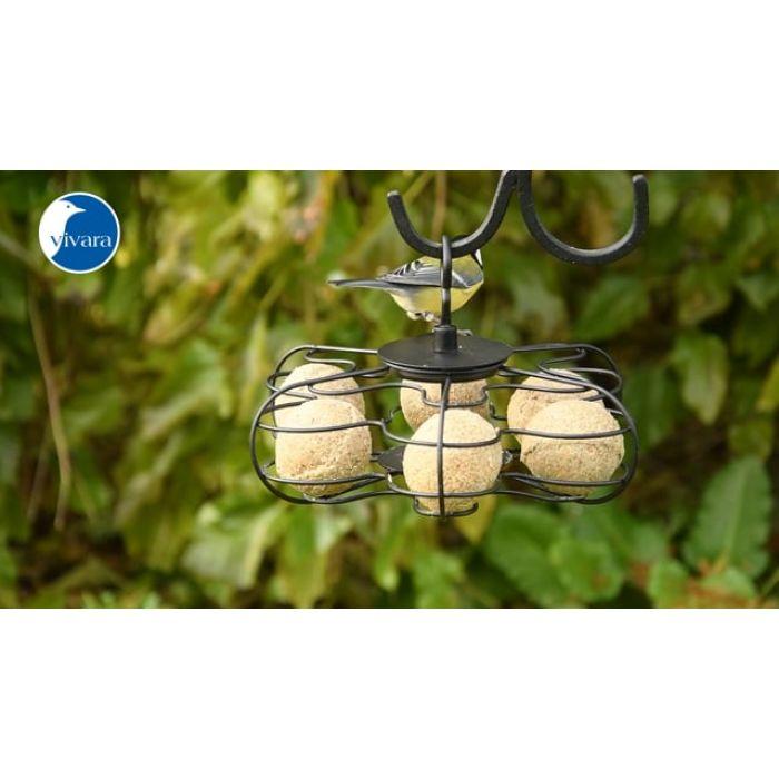 Boules de graisse pure avec cacahuètes - 6 pièces