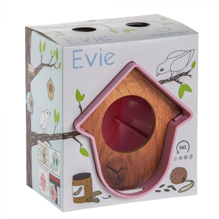 SingingFriend mangeoire Evie rose – motif bois